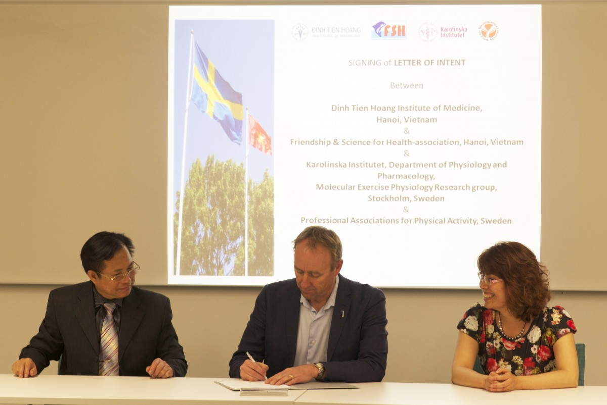 Letter of Intent signing ceremony on Physical Activity Project